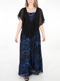 Μάξι φόρεμα με ρουά σχέδια