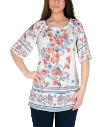 Φωτεινή λουλουδάτη μπλούζα