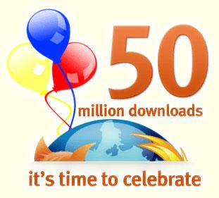 50 millones descargas firefox