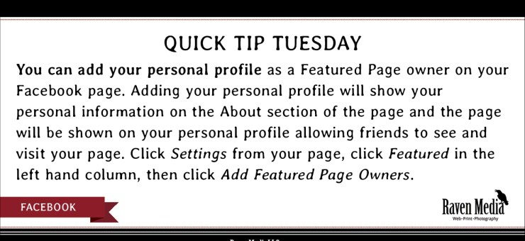 Quick Tip Tuesday: Add Facebook Featured Page Owner
