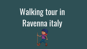 Walking tour in Ravenna italy