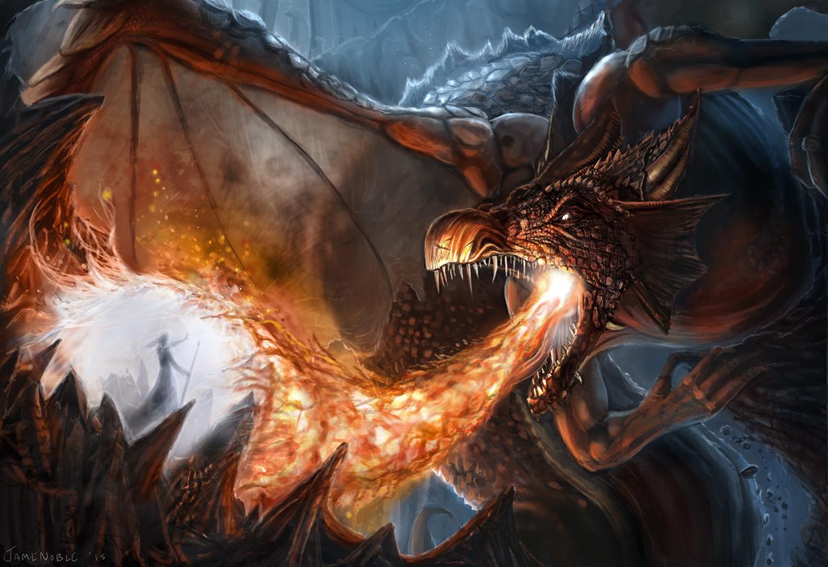 Dragon art by Jamie Noble