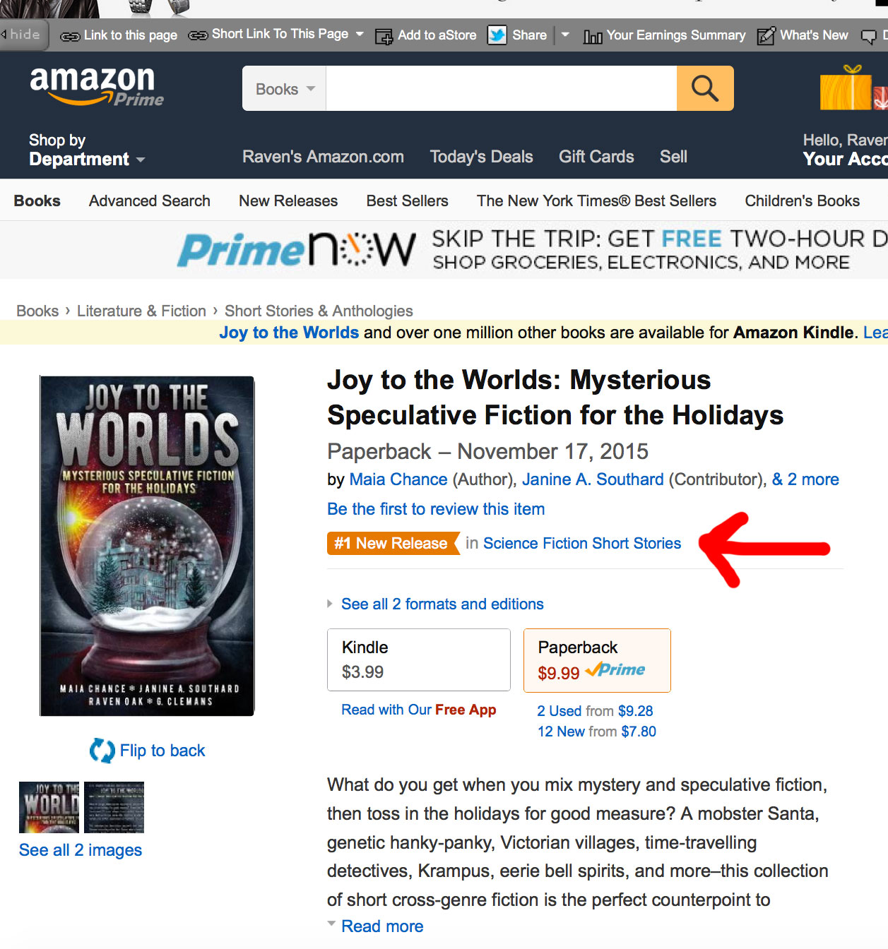#1 New Release Joy to the Worlds
