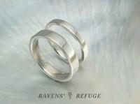his and hers simple platinum wedding bands - Ravens' Refuge