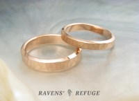 hammered rose gold rings  unconventional wedding bands ...