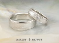 His And Hers Matching Platinum Wedding Rings - Image Of ...