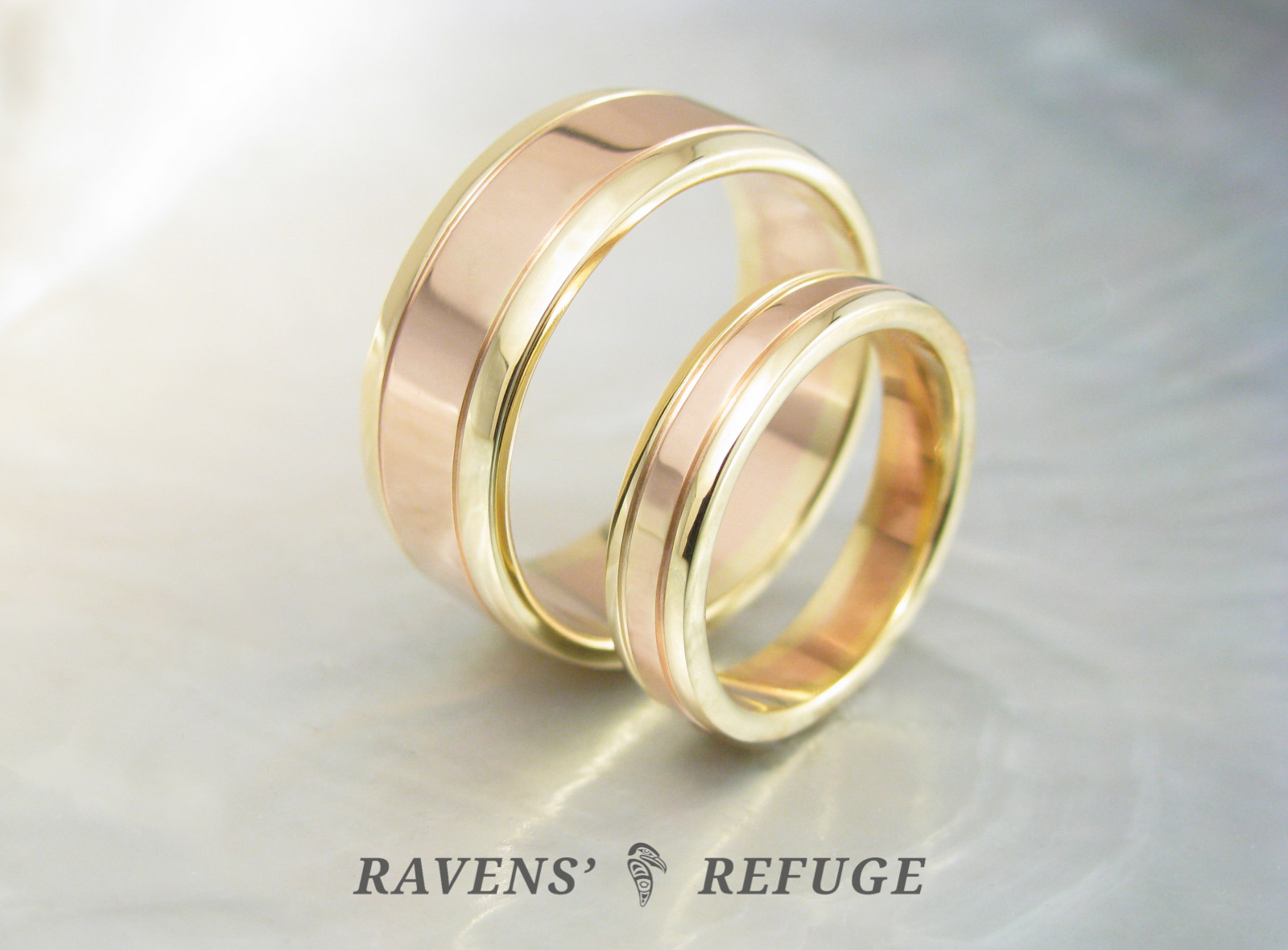 Unique Wedding Bands Matching Two Tone Rings Ravens