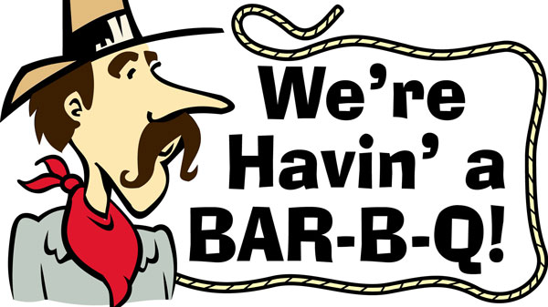 It's a Bar-B-Que Fundraiser for the Swim Team
