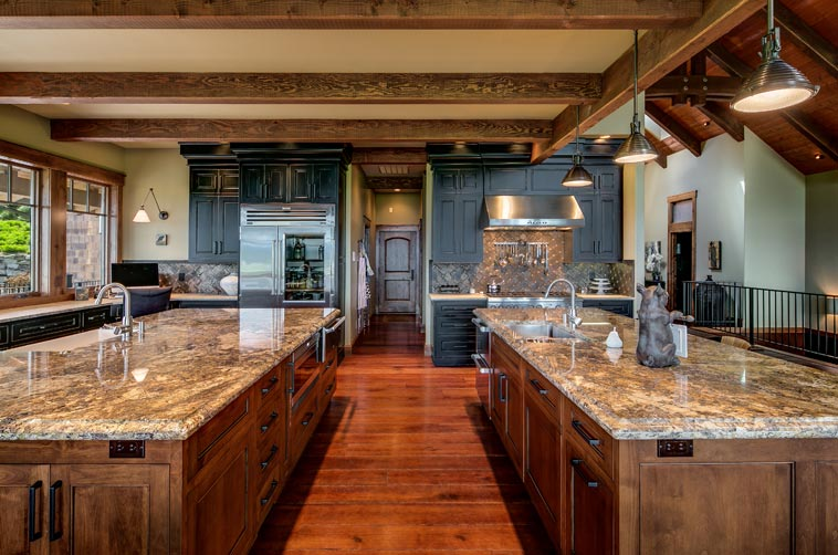 kitchen island with prep sink wallpaper designs gourmet two custom islands and a butler ...