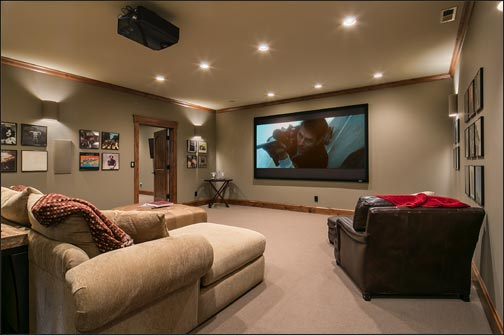 Home Theater  Downstairs Living Room and Wine Cellar
