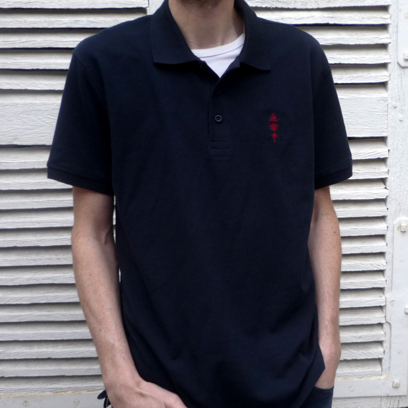 Rave Or Die - Men Polo - color Blue Navy