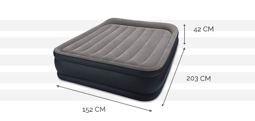 intex rest bed deluxe fiber tech 2