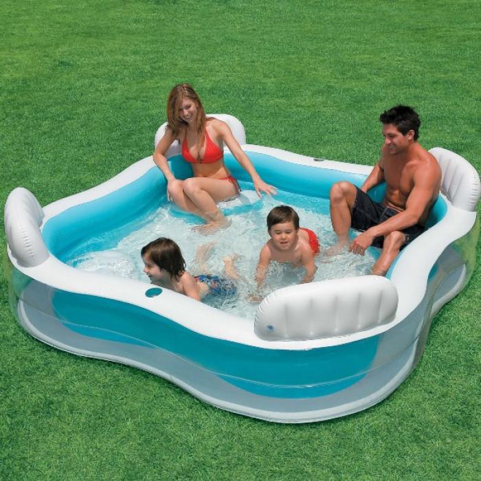 piscine gonflable familiale intex avec sieges