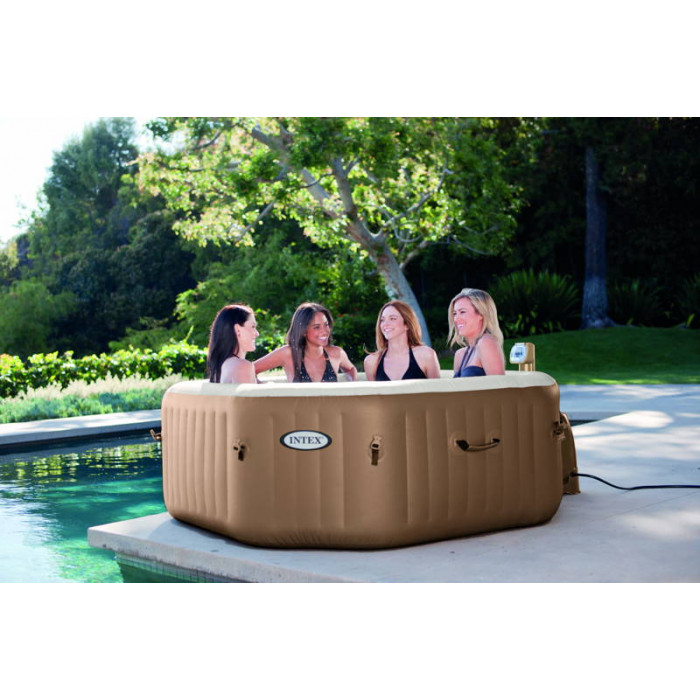 Spa INTEX gonflable Pure Spa Bulles 4 places moins cher