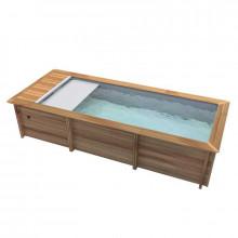 piscine en bois hors sol semi