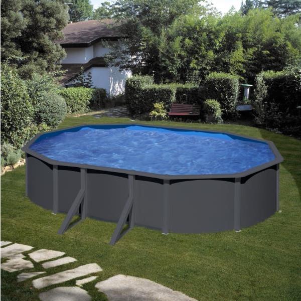 piscine ovale acier gre gris anthracite
