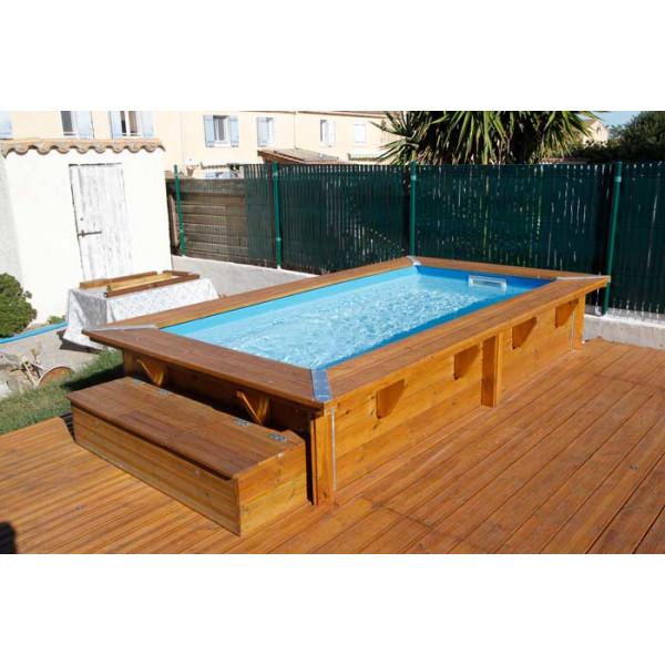 piscine en bois rectangulaire ubbink sunwater 200 x 350