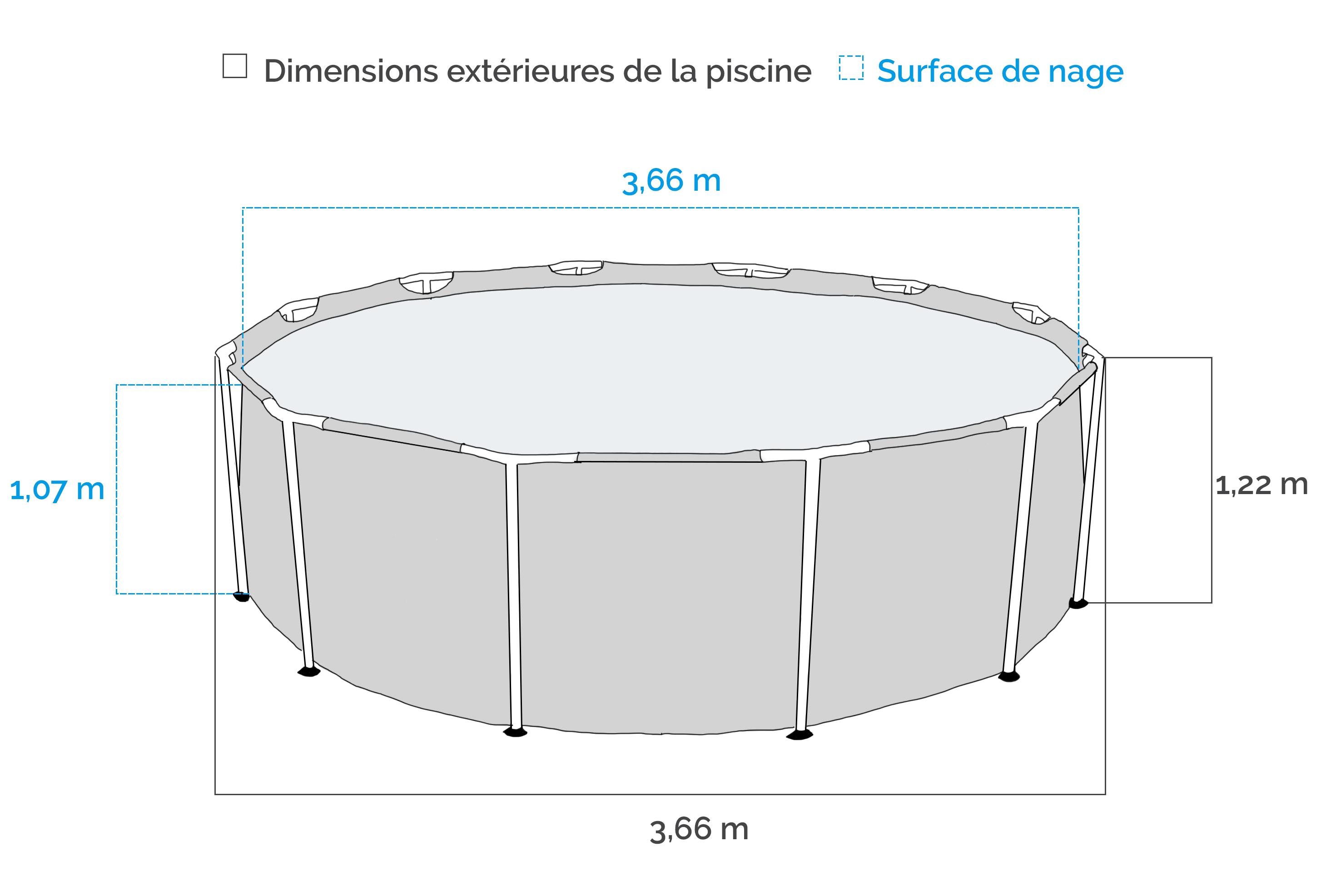 piscine tubulaire intex prism frame 3 66 x 1 22 m