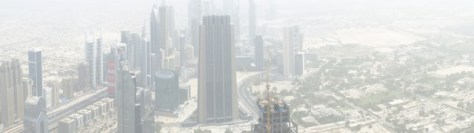 View of Dubai from the tallest building in the world