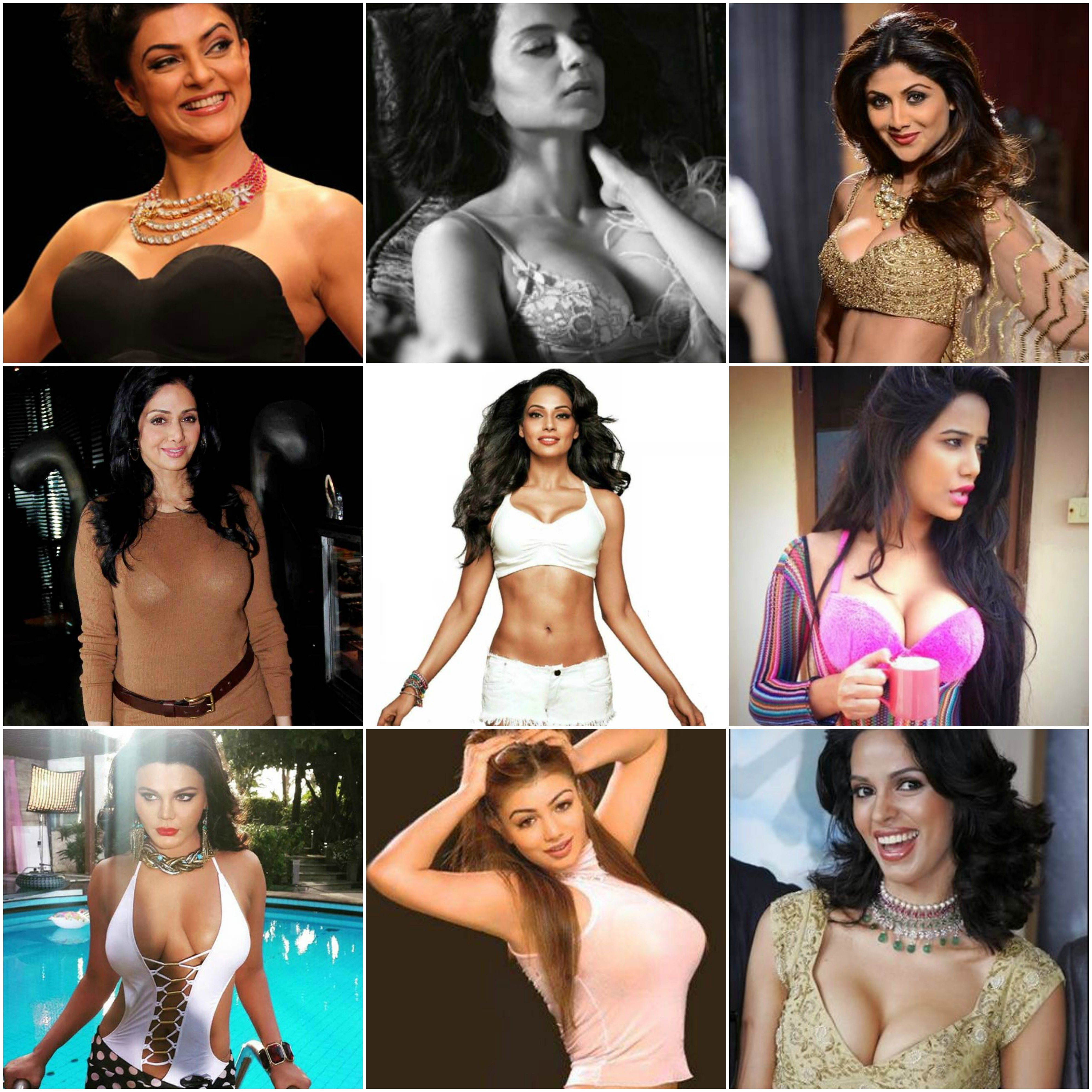 Bollywood actrees boobs