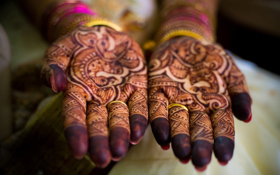 Candid Indian Wedding - Hands of Bride