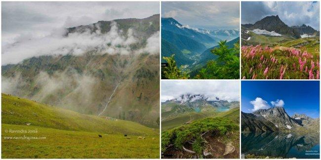 Kashmir Great Lakes Trek in the Himalayas, India