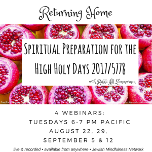 Spiritual Preparation for the High Holy Days 2017
