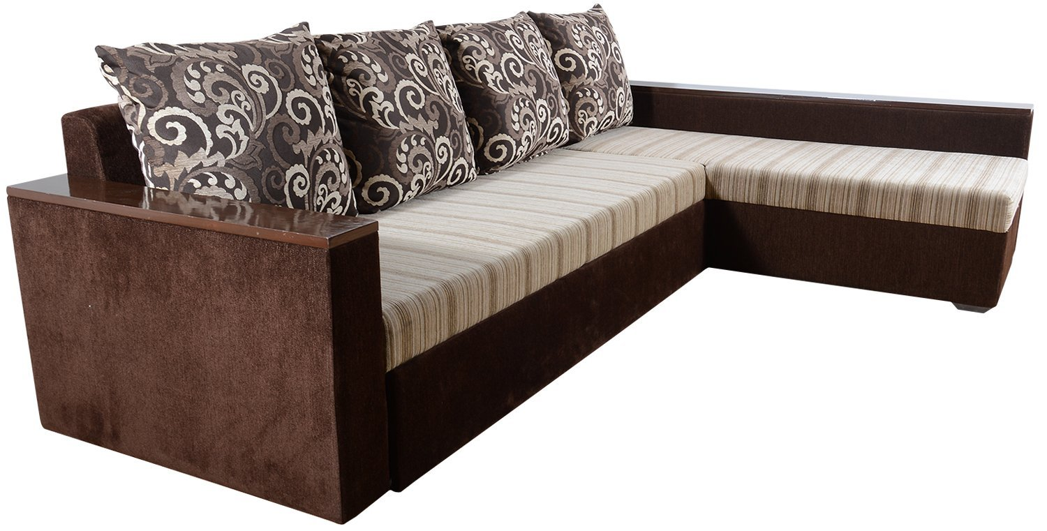 2 seater l shaped sofa bed sets online india delhi wood furniture store near me rawat five muticolour 1