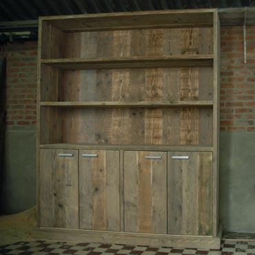 Boekenkast 2II in oud steigerhout  Kasten  Indoor