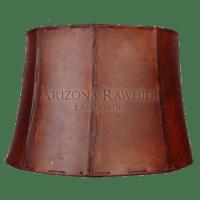 Large Barrel Table Lamp Rawhide Shade - Arizona Rawhide ...
