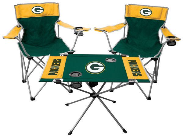 green bay packers chair henry miller rawlings nfl 3 piece tailgate kit images