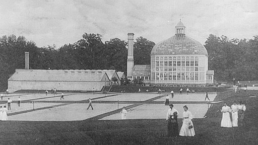 And old photo of the Palm House at the HP Rawlings Conservatory