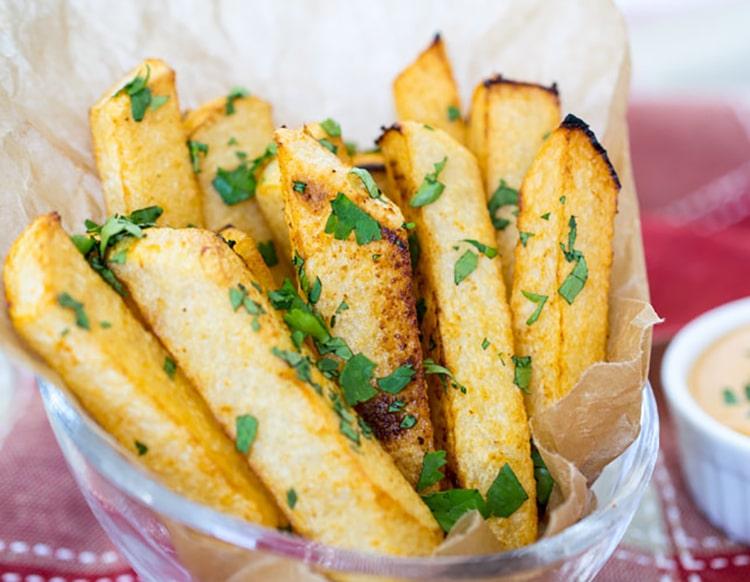 Cilantro Lime Jicama Fries