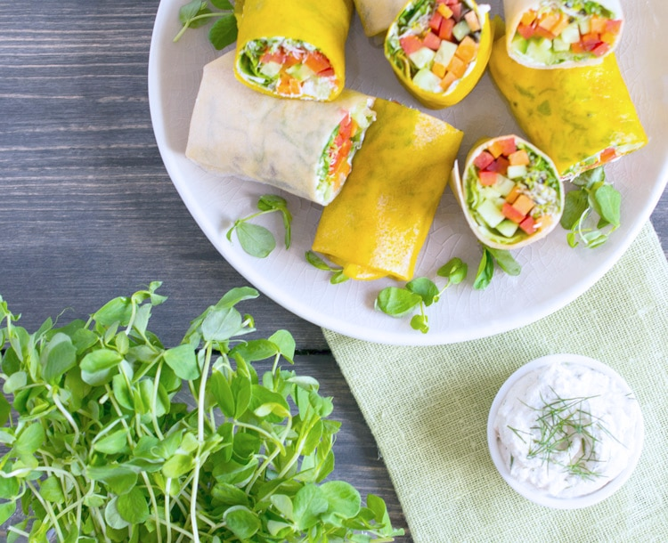 Cucumber Dill Veggie Wraps with Coconut Wrappers