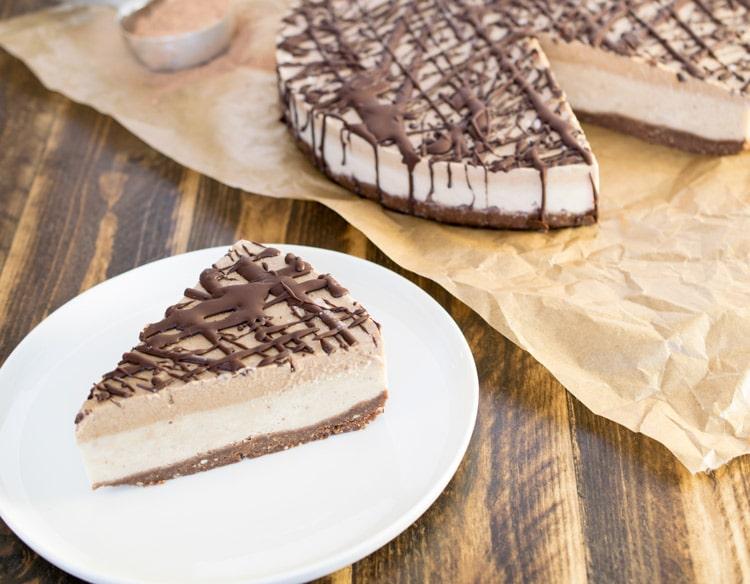Chocolate Caramel Ice Cream Cake Raw Revive