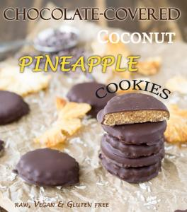 chocolate covered pineapple coconut cookies