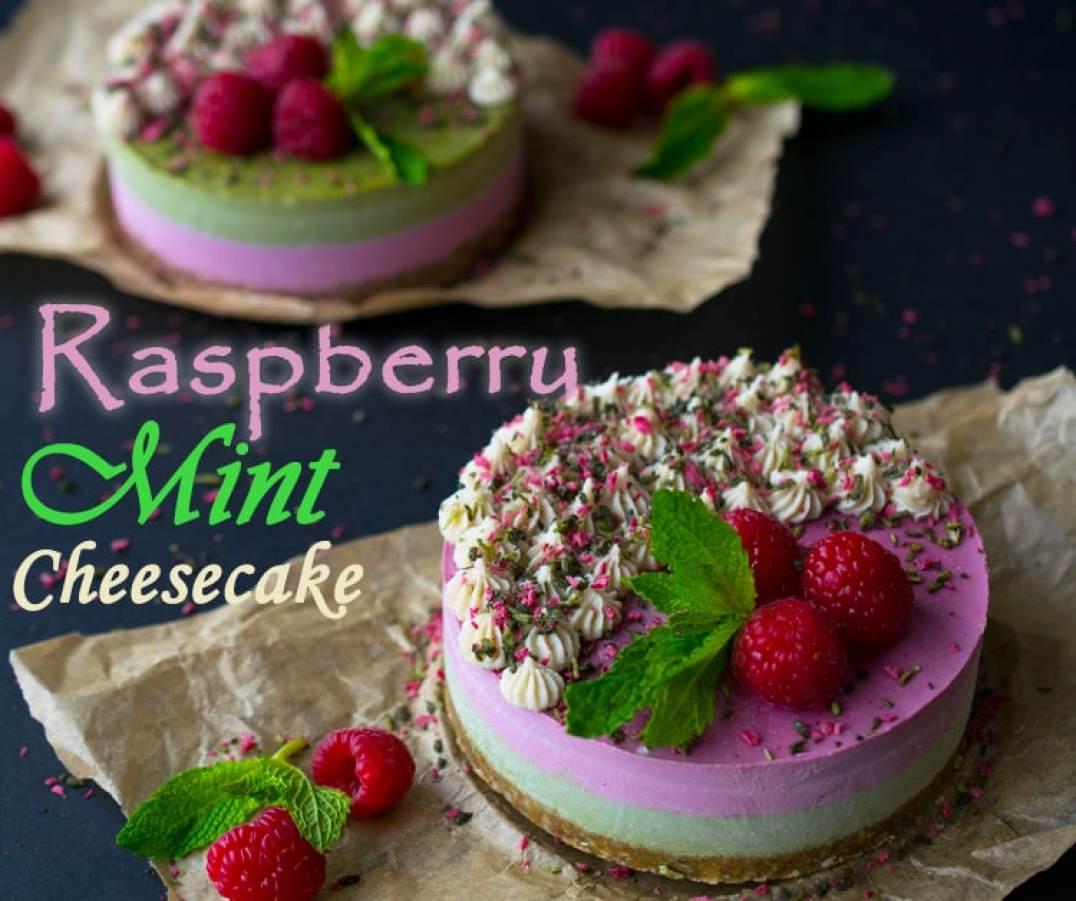 Raspberry Mint Cheesecake