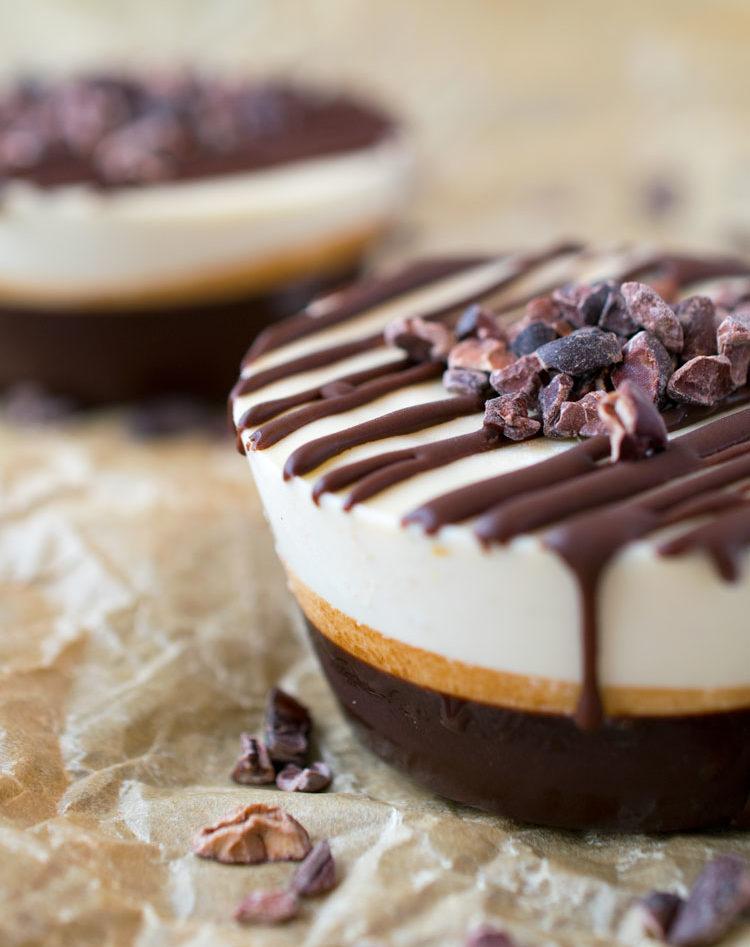 Chocolate Cashew Cream Cupcake