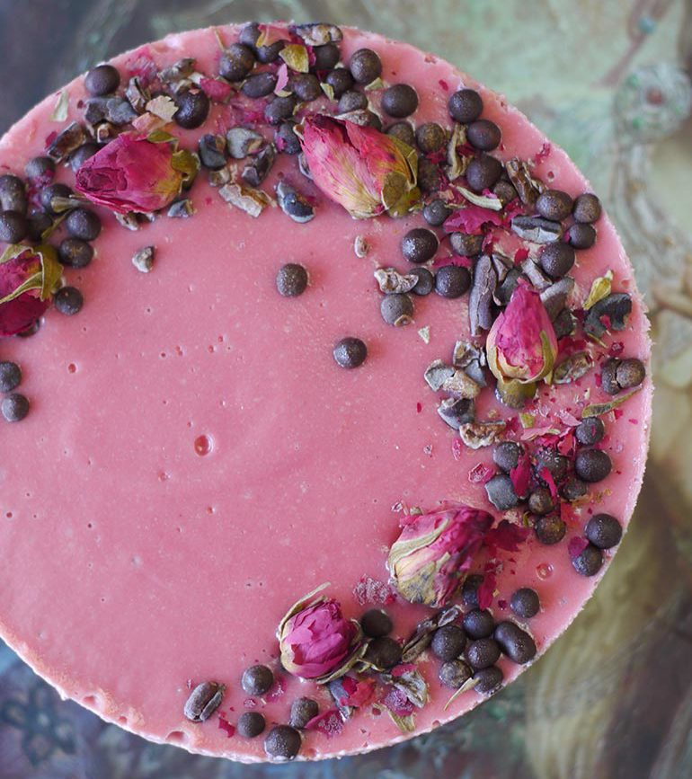 chocolate beet cheesecake