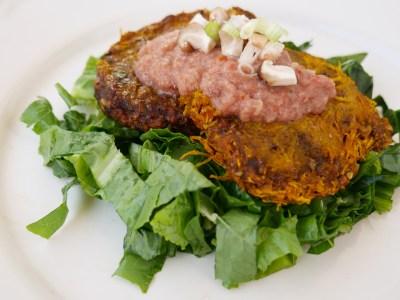 Raw vegan pumpkin burger recipe - raw food diet recipes