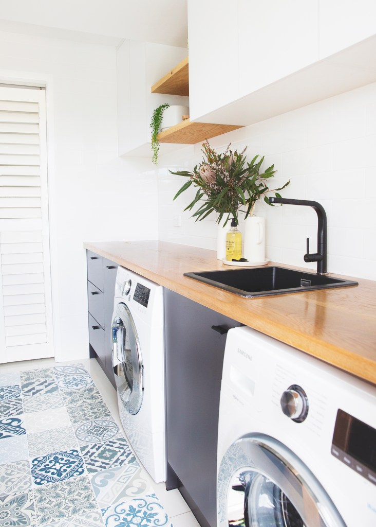 laundry timber bench tops Sunshine Coast