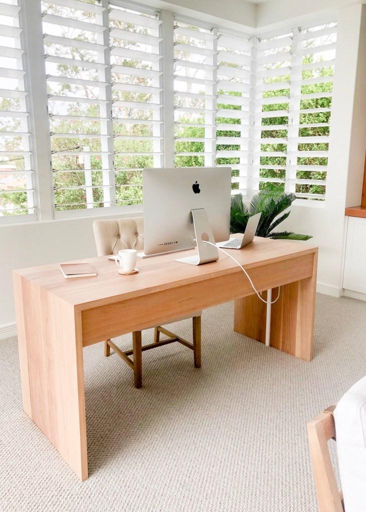 custom made desk in home office