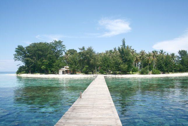 Jembatan di pulau Panjang