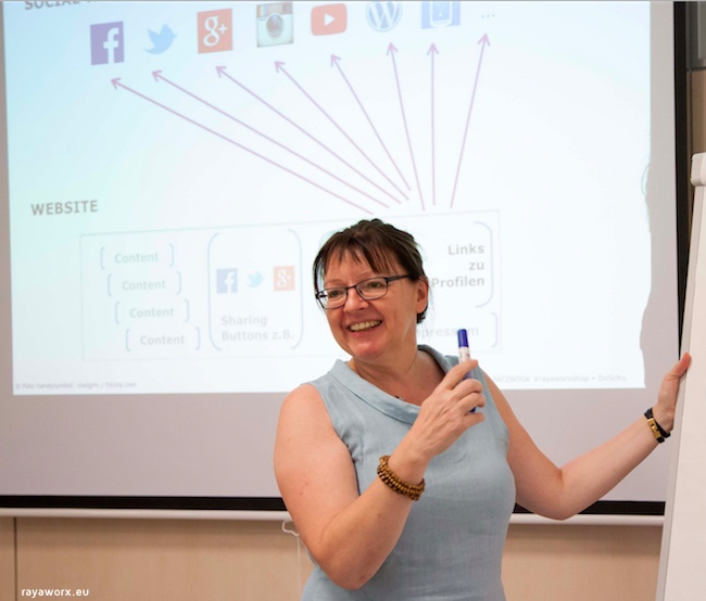 Rayaworx Workshop Dozentin Doris Schuppe