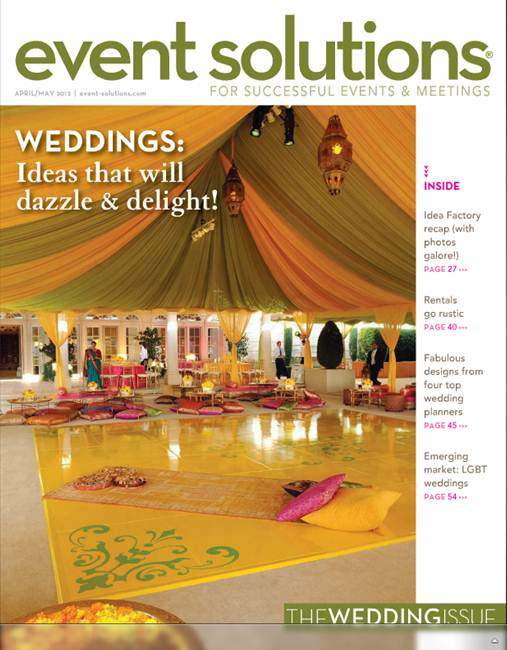 Exquisite Events grabs the cover of Event Solutions Magazine  Rayce PR