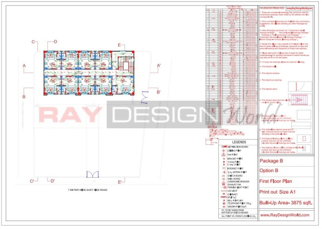 Marriage Hall - Electrical drawing