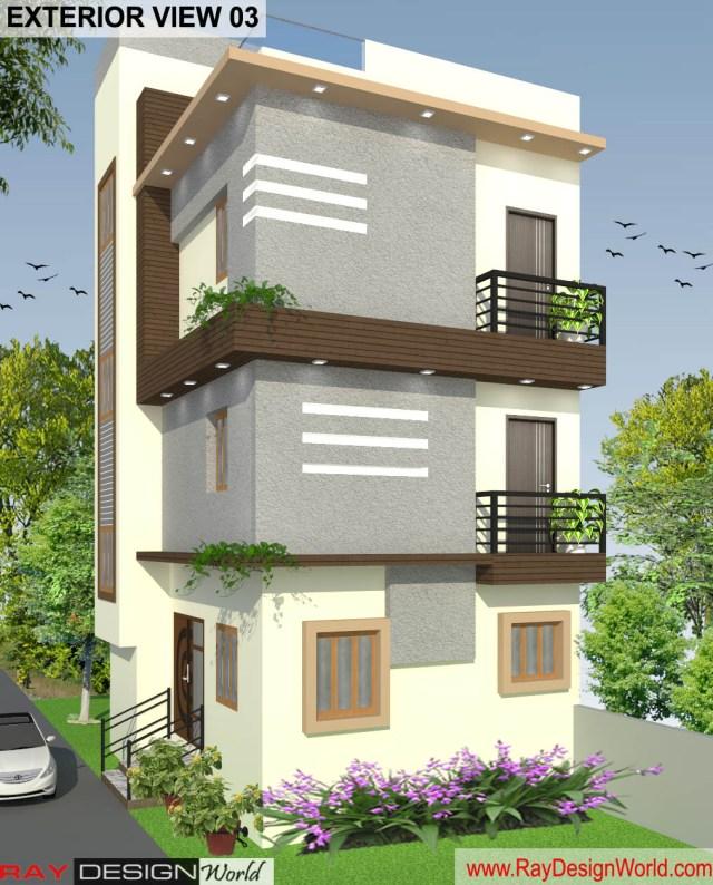 Bungalow 3D Exterior Design view 03 - Visakhapatnam - Mr.Murlidhar