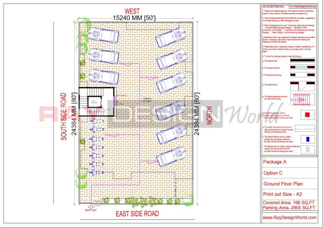 Apartment Design - Ground Floor Plan -Lucknow Uttar Pradesh - Mr.Narendra Kumar Tripathi