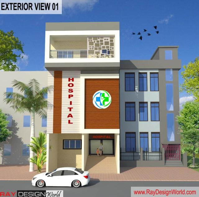 Dr.Azmat-Jaunpur-Uttar-Pradesh-Hospital-3D-Exterior-View-01