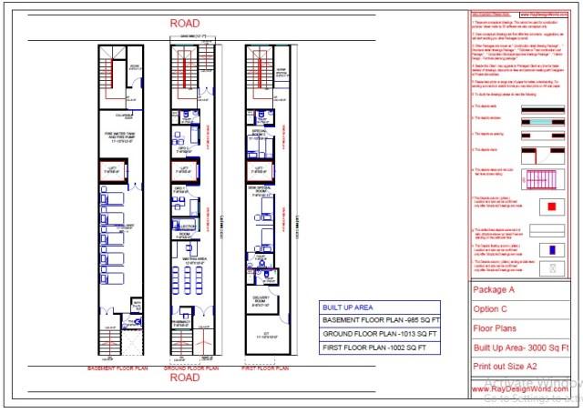 Dr.Azmat-Jaunpur-Uttar-Pradesh-Hospital-Basement-To-First-Floor-Plan